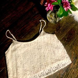Abercrombie & Fitch LACE Cropped Top
